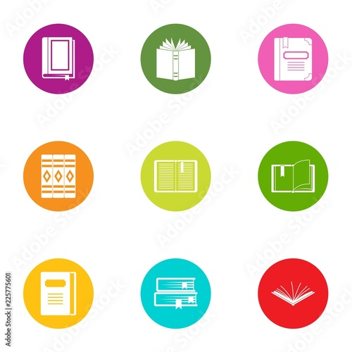 Photographie  Book day icons set