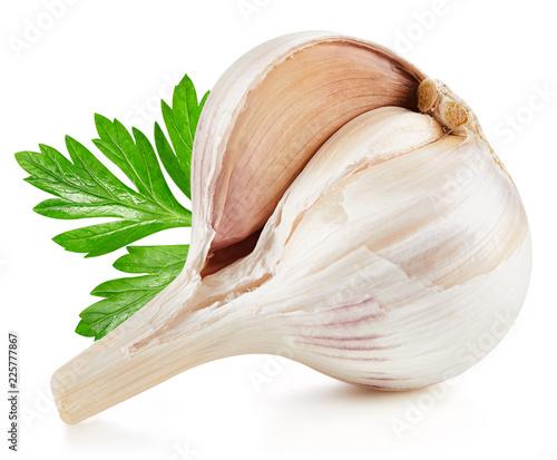 Fotobehang Aromatische Garlic Isolated on white