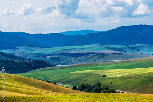 Poster Pool The mountains and hills. Altai