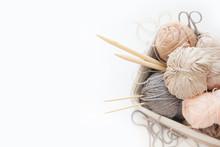 Neutral Beige Yarn For Knittin...