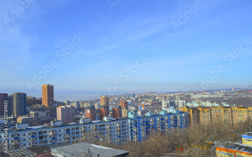 Foto op Canvas Stad gebouw Vladivostok, View of the town