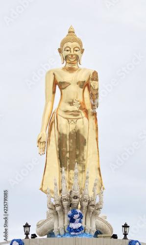 Tuinposter Boeddha Statue of Buddha with white background.