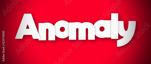 Anomaly - clear white text written on red background Canvas Print