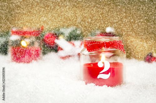 Fototapeta 2. Advent ist Weihnachtszeit obraz na płótnie
