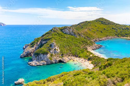 Foto  Porto Timoni is an amazing beautiful double beach in Corfu Island, Greece