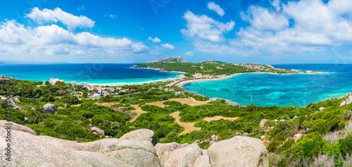 Photo  Landscape with Rena di Levante and Rena Di Ponente beach, Capo Testa, Sardinia i