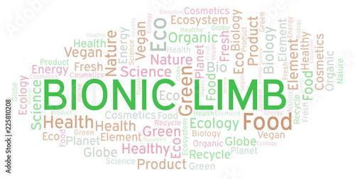 Fotografie, Obraz  Bionic Limb word cloud.