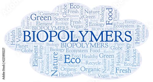 Photo Biopolymers word cloud.