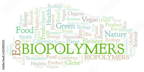 Biopolymers word cloud. Wallpaper Mural