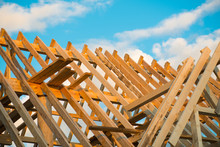 Wooden Roof Construction, Symb...