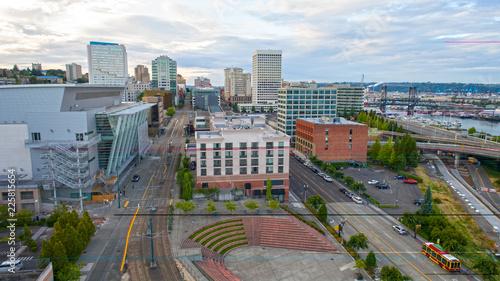 Fotobehang Amerikaanse Plekken Downtown Tacoma Washington Skyline Waterfront