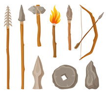 Collection Of Stone Age Symbol...
