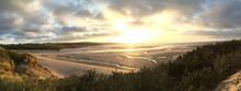 Panorama Cornwall Hayle Beach ...