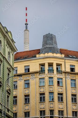 Staande foto Praag Prag, Sanierte Altbauten