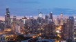 Downtown Chicago Skyline Cityscape Sunrise Timelapse