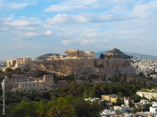 Deurstickers Athene Athen - Stadtpanorama und Akropolis