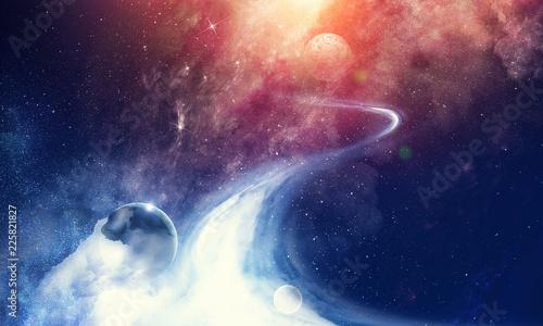 Fototapety, obrazy: Space planets and nebula
