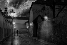 Mysterious Narrow Street Of Pr...
