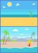 Summertime Paradise Set of Vector Sandy Beaches