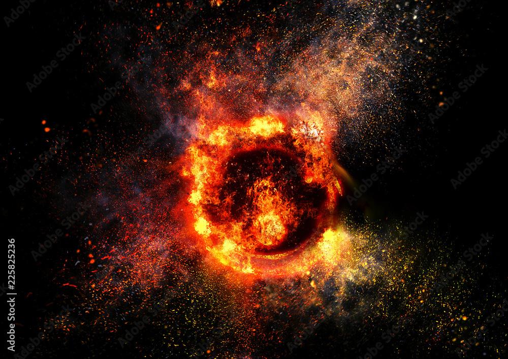 Fototapety, obrazy: 抽象的な炎のリング