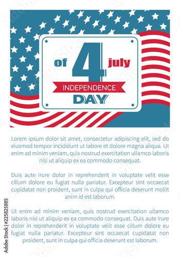4th July National Holiday Vector Independence Day