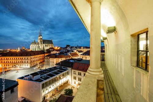 In de dag Centraal Europa Brno night cityscape view, Czech republic