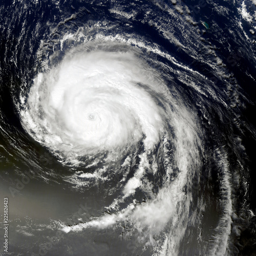 Foto op Plexiglas Onweer Typhoon from space. Satellite view. Elements of this image furnished by NASA