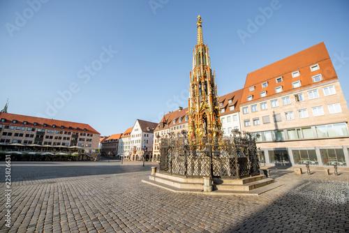 Foto op Plexiglas Europese Plekken Central square of the old town in Nurnberg, Germany