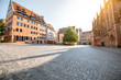 Morning street view in the old town of Nurnberg, Germany