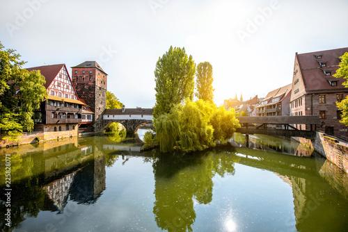 Foto op Plexiglas Europese Plekken Landscape view on the riverside in Nurnberg, Germany