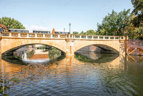 Foto op Plexiglas Europese Plekken Stone bridge in Nurnberg, Germany