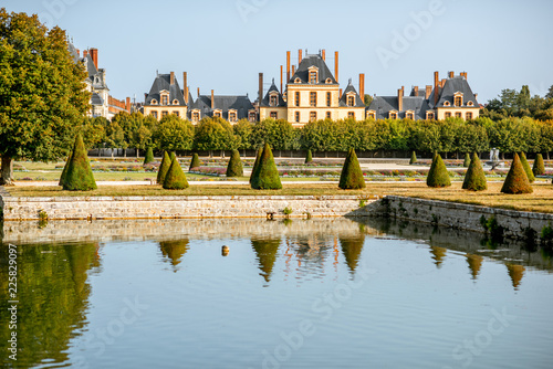 Gardens of Fontainebleau palace in France