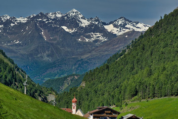 wiosenna panorama Alp austr...