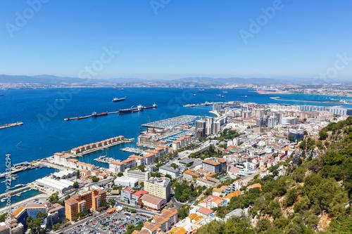 Plakat Gibraltar miasto port port morze wakacje Morza Śródziemnego