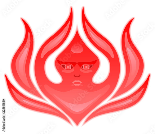 Seraphim, six-winged angel from Bible Book of Revelation  Stylized