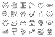 Cute Cat Related Icon Such As ...