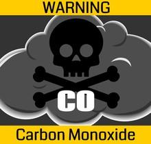 Carbon Monoxide Poisonous Gas Warning Sign