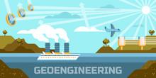 Geoengineering Concept Vector ...
