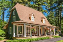 1920s House With Green Cedar W...