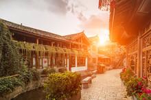 Old Town Of Lijiang At Sunrise, Yunnan, China