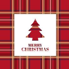 Christmas Card. Bright Xmas Tr...