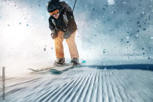 Fotografía  Skifahrer auf Piste