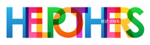 HELP OTHERS Colorful Typograph...