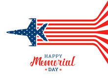 Happy Memorial Day Banner With...