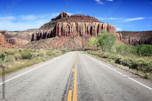 In de dag Centraal-Amerika Landen Utah road