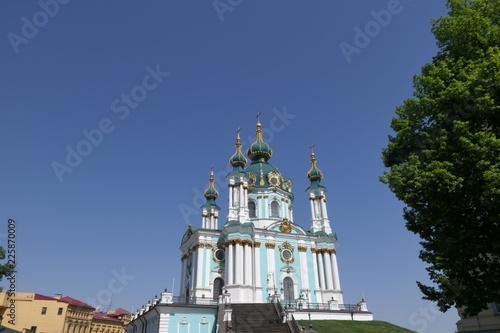 Foto op Plexiglas Kiev View of the St Andrew's Church, Kiev, Ukraine