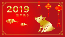 2019, Year Of The Pig ,Chinese...