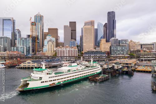 Fotografia, Obraz Aerial photo Ferry in Seattle