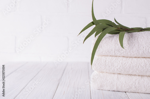 Fotografia Spa composition on wooden table