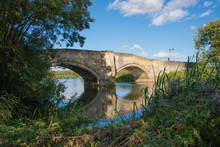 Pretty Stone Road Bridge Over The River Derwent